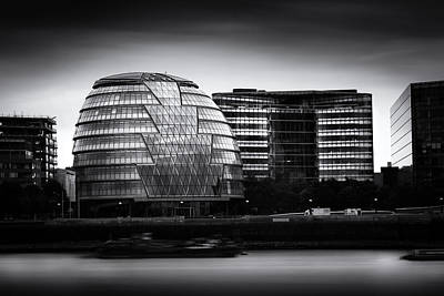 Cityhall Photograph -  London City Hall  Skyline by Ian Hufton