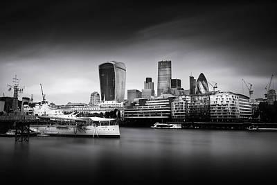 Gherkin Photograph -  London Skyline  Cityscape by Ian Hufton
