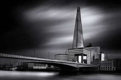 London Skyline Photograph -  London Skyline In Monochrome by Ian Hufton