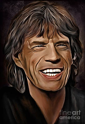 Mick Jagger Digital Art -  Lucky In Love by Andrzej Szczerski