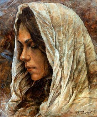 Girl Painting -  Maria2 by Arthur Braginsky