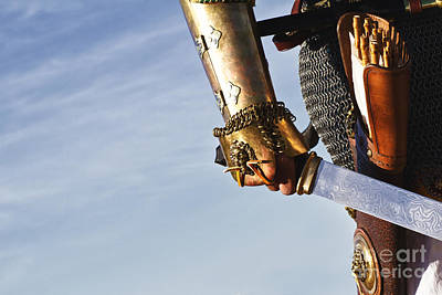 Knight Photograph -  Medieval Knight And Sword by Holly Martin