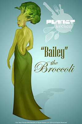 Broccoli Drawing -  Meet Bailey The Broccoli by YNFWB Your new friends with BENEFITS