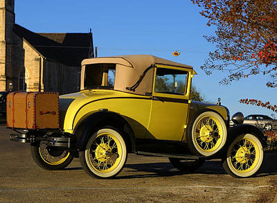 Model A Automobile Print by Linda Phelps