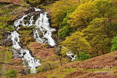 Nant Gwynant Waterfalls V Print by Maciej Markiewicz