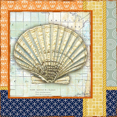 Nautical Journey-shell B Print by Jean Plout