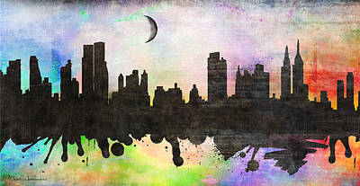 Big Cities Digital Art -  New York 6 by Mark Ashkenazi