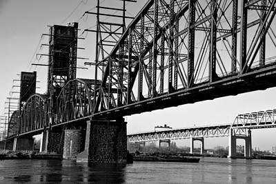 Railroad Bridge Photograph -  Old Railroad Bridge  by Louis Dallara
