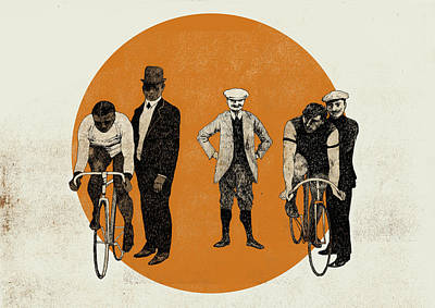 Old Time Trial Print by Eliza Southwood