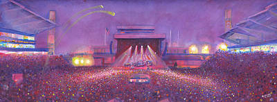 2013 Painting -  Phish At Dicks by David Sockrider