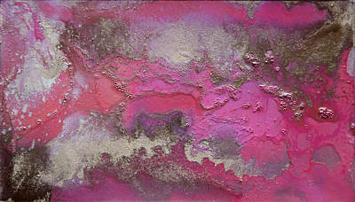 Copper Color Painting -  Pink And Gold Abstract Painting by Julia Apostolova