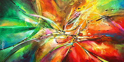 Abstract Movement Painting - ' Point Of No Return' by Michael Lang