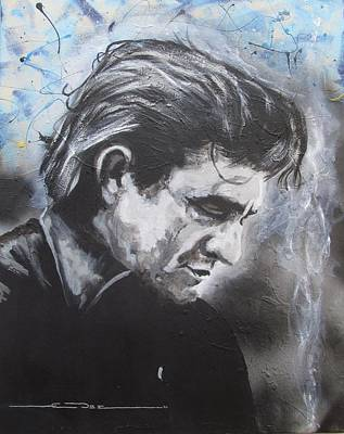 Johnny Cash Drawing -  Prison Blues by Eric Dee