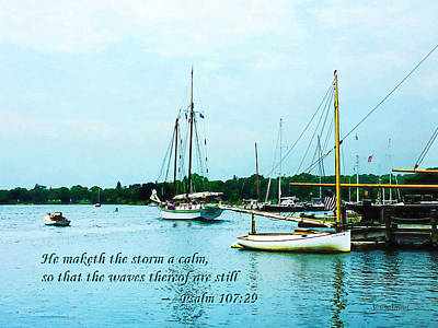 Psalm 107-29 He Maketh The Storm A Calm Print by Susan Savad