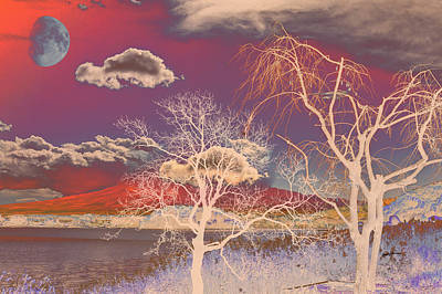 Peter Max Digital Art -  Psychedelic Landscape by Anthony Caruso