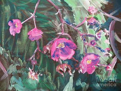 Fushia Painting -  Ptg  Adirondack Wildflower by Judy Via-Wolff