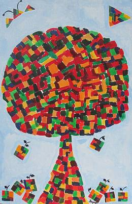 Painting -  Puzzle Land  by Diane Pape