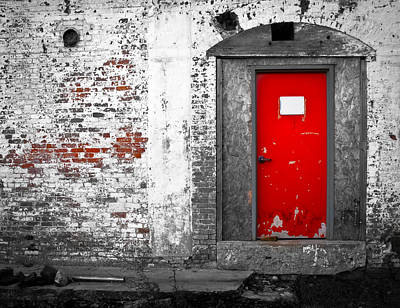 Red Door Perception Print by Bob Orsillo