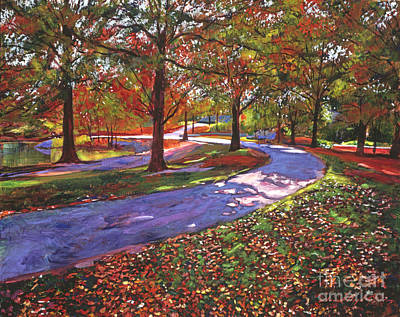Road By The Lake Print by David Lloyd Glover