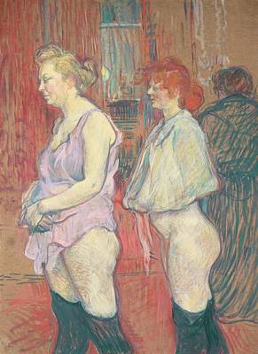 Provocative Painting -  Rue Des Moulins by Henri de Toulouse-Lautrec