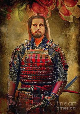Samurai Print by Andrzej Szczerski
