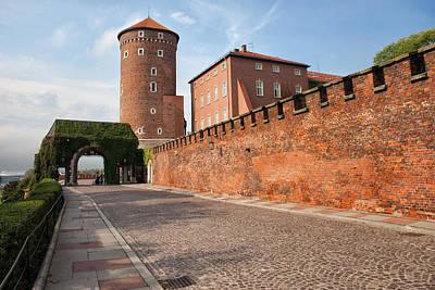 Cracow Photograph -  Sandomierska Tower And Wawel Castle Wall In Krakow by Artur Bogacki