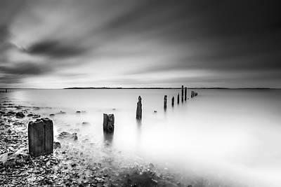 Kent Photograph -  Seasalter In Mono by Ian Hufton