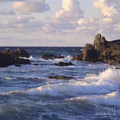 Seascape. Rocks. Normandy. France. Europe Print by Bernard Jaubert
