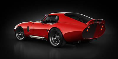 Shelby Daytona - Red Streak Print by Marc Orphanos