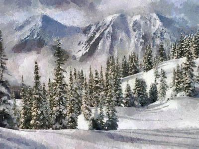 Snow In The Mountains Print by Georgi Dimitrov