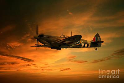 Spitfire Glory Print by J Biggadike