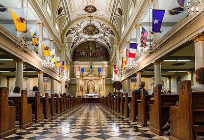 St. Louis Cathedral Print by Steve Harrington