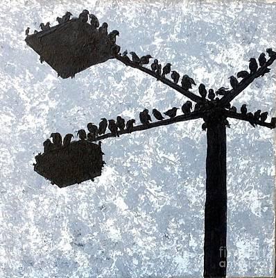 Starlings Painting -  Starlings Marignagne I by Chris Irwin Walker