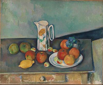 Paul Cezanne Painting - Still Life by Paul Cezanne