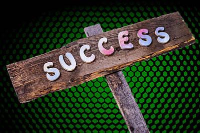 Success Sign Post Print by Donald  Erickson
