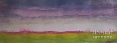 Prairie Sunset Painting -  Sunset In Prairie by Vesna Antic