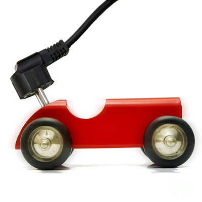 Plug Photograph -  Symbolic Image Electric Car by Bernard Jaubert