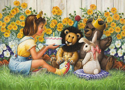 Birthday Present Painting -  The Birthday Party by Lynn Bywaters