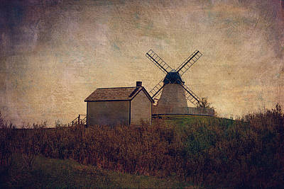 The Bruderheim Windmill  Print by Maria Angelica Maira