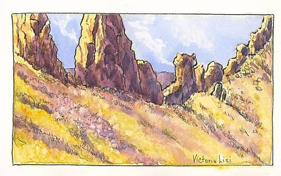 Devils Backbone Painting -  The Devil's Backbone by Victoria Lisi