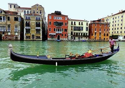 Gondolier Photograph -  The Gondolier by Bishopston Fine Art