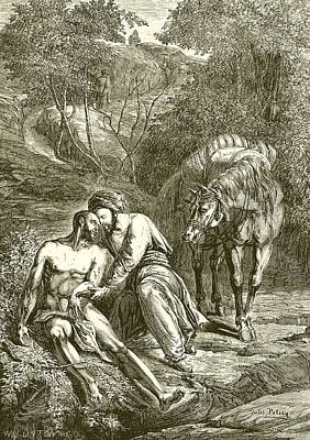 Good Drawing -  The Good Samaritan  by English School