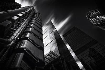 Gherkin Photograph -  The Lloyds Building And Gherkin London by Ian Hufton