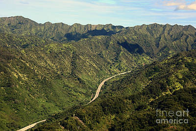 Aeriel View Photograph -  The Long And Winding Road by Cheryl Young
