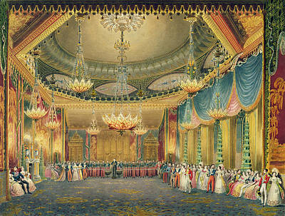 Ball Gown Painting -  The Music Room by English School