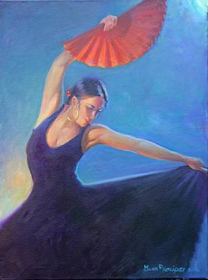 The Red Fan Print by Gwen Carroll
