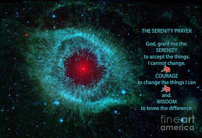 The Serenity Prayer Helix Nebula. Print by Heinz G Mielke