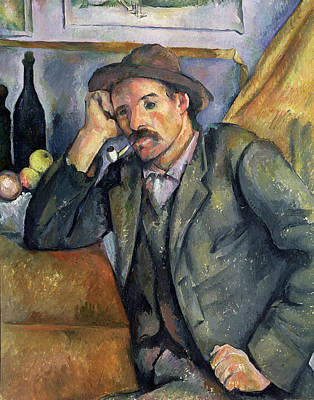 Food And Beverage Painting -  The Smoker by Paul Cezanne
