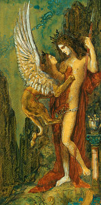Moreau Painting -  The Sphinx by Gustave Moreau