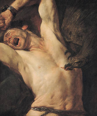 Zeus Painting -  The Torture Of Prometheus by Giovacchino Assereto